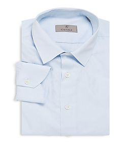 Canali | Modern-Fit Solid Cotton Dress Shirt