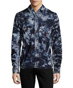 Prps | Long-Sleeve Printed Cotton Shirt
