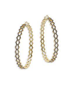 Noir | Opal Cutout Hoop Earrings2in