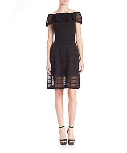 M Missoni | Rib-Stitched Scalloped Dress