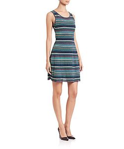 M Missoni | Triangle-Striped Tank Dress
