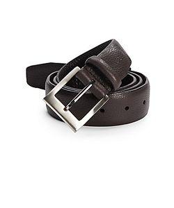 Bill Lavin | Pebble-Grain Leather Belt