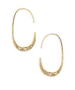 Noir | Cubic Zirconia 14k Plated Threader Earrings