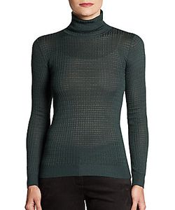 M Missoni | Waffle-Knit Turtleneck Top
