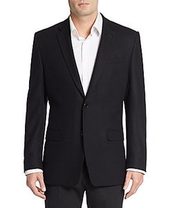 Versace Collection   Wool-Blend Regular-Fit Blazer