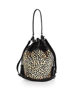 Loeffler Randall | Industry Calf Hair Bucket Bag