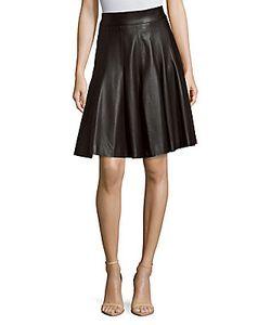 J. Mendel   Fla Leather Skirt