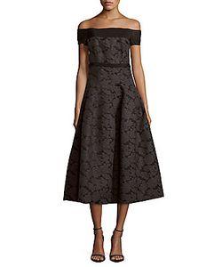 J. Mendel   Wool-Blend Off-The-Shoulder Dress