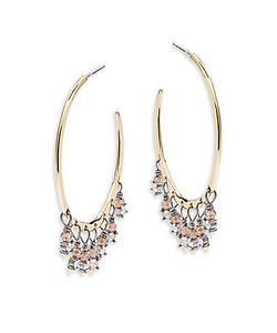 Alexis Bittar | Elements Swarovski Embellished 14kplated Hoop Earrings1.9in