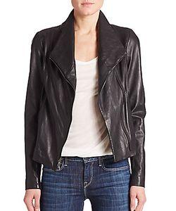 Vince | Leather Scuba Jacket
