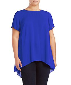 Vince Camuto | Plus Size Solid Hi-Lo Top