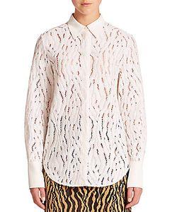 3.1 Phillip Lim | Silk-Trimmed Lace Shirt