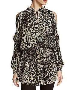 Parker | Animal-Print Cold-Shoulder Dress