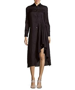 Theory | Spread Collar Asymmetric Dress