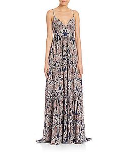 L'agence | Honore Paisley-Print Silk Maxi Gown