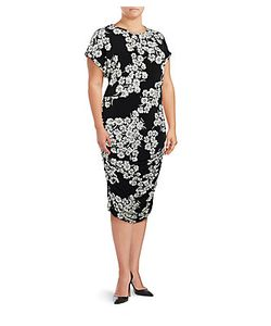 Vince Camuto | Ruchedprint Dress