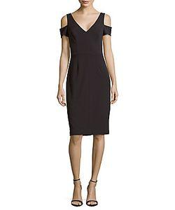 Vera Wang | Crepe Cold-Shoulder Sheath Dress