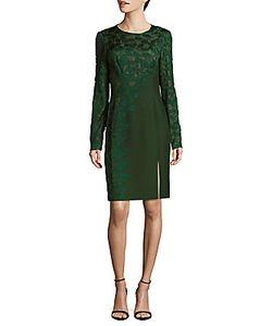 J. Mendel | Appliqued Long-Sleeve Dress