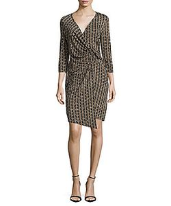 Laundry by Shelli Segal | Printed Surplice Neckline Dress