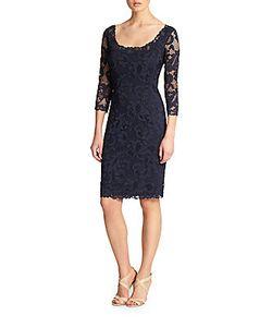 Natori | Scoopneck Lace Dress