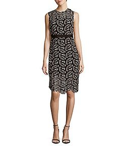Cynthia Rowley | Paisley Lace Fitted Dress