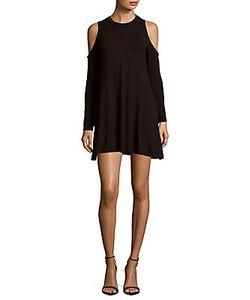 Elan | Solid Cold-Shoulder Dress