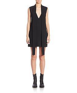 DKNY | V-Neck Tie-Front Dress