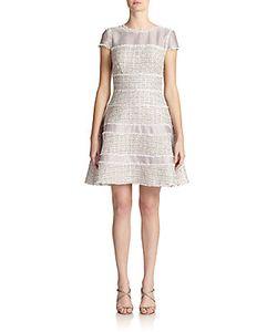 Kay Unger | Paneled Tweed Dress