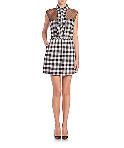 Valentino | Flannel Point Desprit Plaid Dress