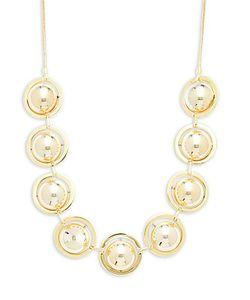 Noir | Bar--Ring Beaded Necklace