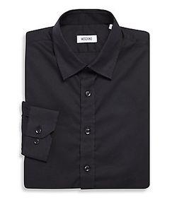 Moschino   Solid Egyptian Cotton Dress Shirt