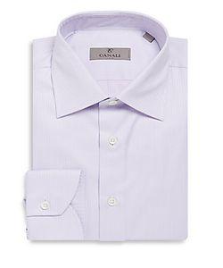 Canali | Modern-Fit Striped Cotton Dress Shirt