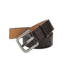 Robert Graham | Lilong Scroll-Motif Leather Belt