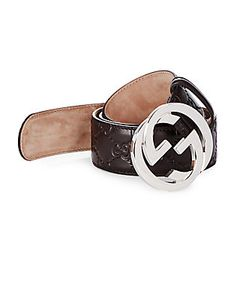 Gucci | Leather Textu Belt