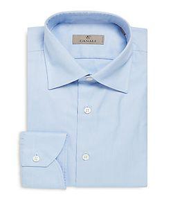 Canali | Modern-Fit Textu Cotton Dress Shirt