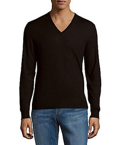 Ralph Lauren | Solid V-Neck Cashmere Sweater
