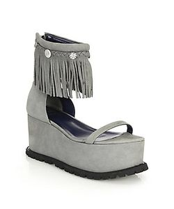 Sacai | Fringed Suede Platform Sandals