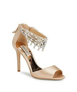 Badgley Mischka | Denise Leather Stiletto Sandals