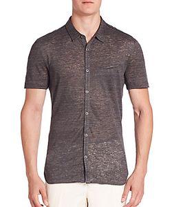 John Varvatos | Knit Casual Button-Down Shirt