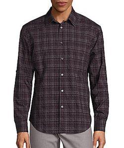 John Varvatos | Slim-Fit Wrinkle Plaid Shirt