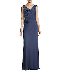 Vera Wang | Cinched Cowlneck Gown