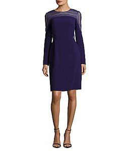 J. Mendel | Jewelneck Panelled Dress