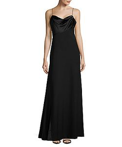 Vera Wang | Satin-Trimmed A-Line Gown