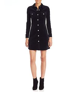 AG Adriano Goldschmied | Alexa Chung For Ag The Pixie Fitted Corduroy Shirtdress