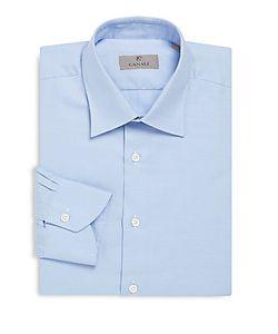 Canali | Cotton Textu Modern-Fit Dress Shirt