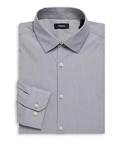 Theory | Dover Cotton Long-Sleeve Dress Shirt