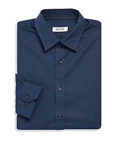 Moschino   Solid Cotton Dress Shirt