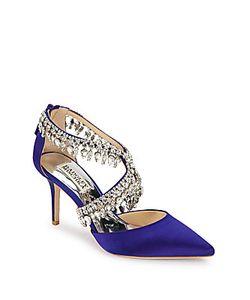 Badgley Mischka | Glamorous Embellished Point Toe Pumps