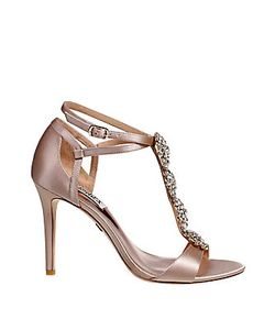 Badgley Mischka | Satin Leather Pump Sandals