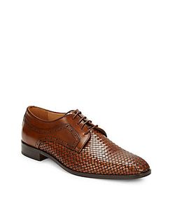 Saks Fifth Avenue Made in Italy   Woven Leather Oxfords